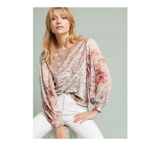 Anthropologie • Meadow Rue Floral Bell Sleeve